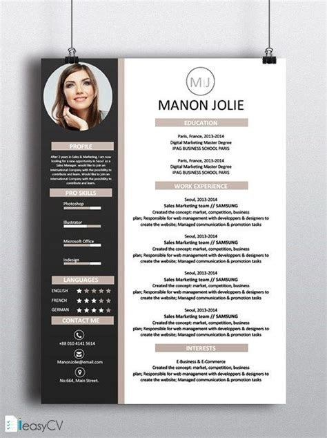 curriculum vitae english design best 25 english cv model ideas on pinterest mod 232 le de