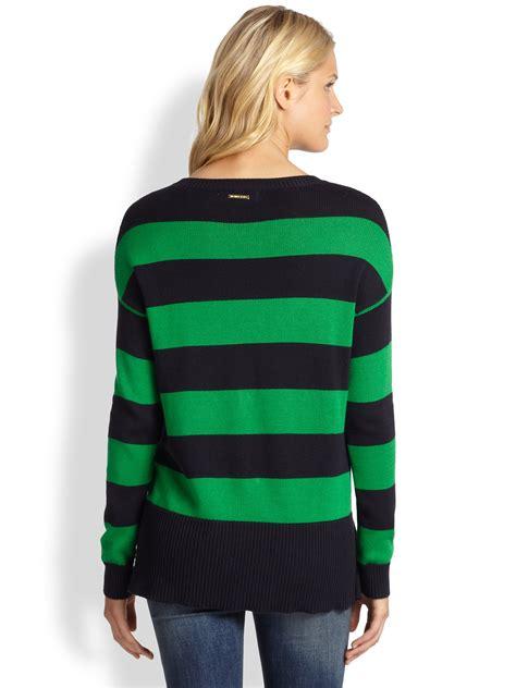 Michael Sweater Black Limited 1 lyst michael michael kors striped hilo sweater in black
