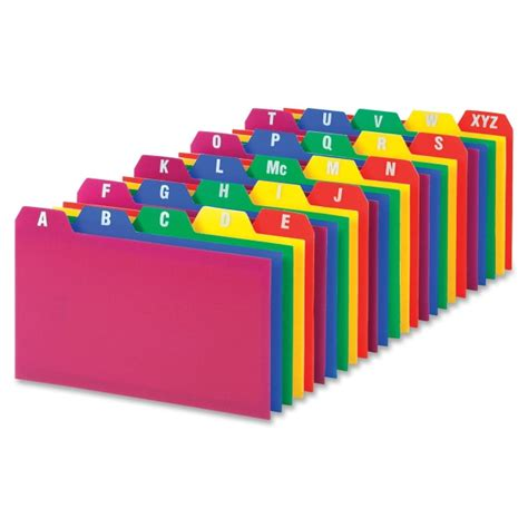 oxford index card tab template 1 5 100 oxford 73153 a z poly filing index cards printed tab s