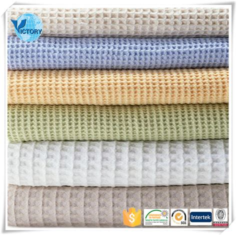 Harga Vans Flannel knitted weft waffle weave cotton fabric for bathrobe buy