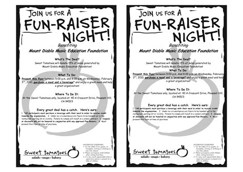 6 best images of benefit fundraiser flyer template