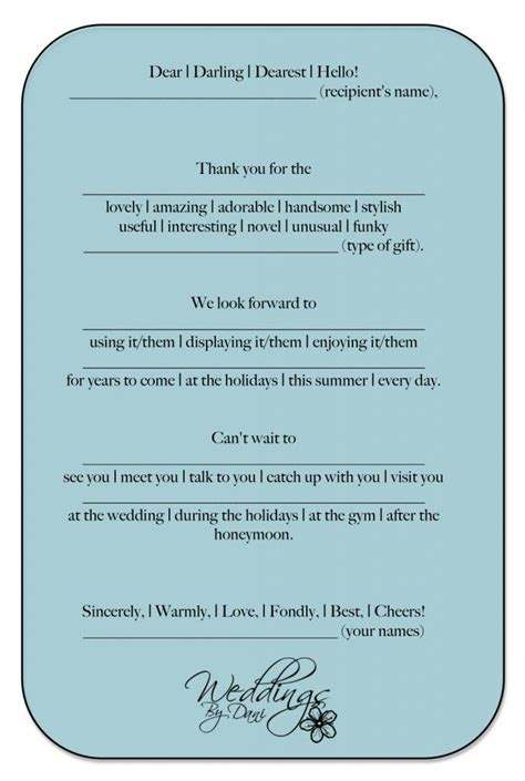 Engagement Gift Thank You Card Template by Best 25 Wedding Thank You Ideas On Wedding