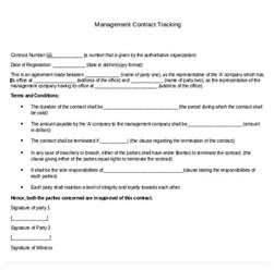 contract management template contract tracking template 10 free word excel pdf