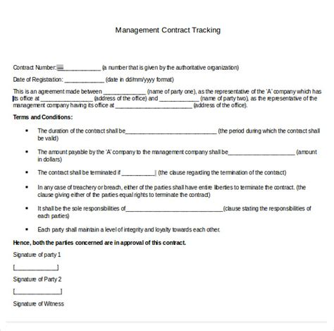 contract management templates contract tracking template 10 free word excel pdf