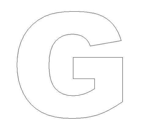 letter g template alphabet felt board craft crafts print your letter g