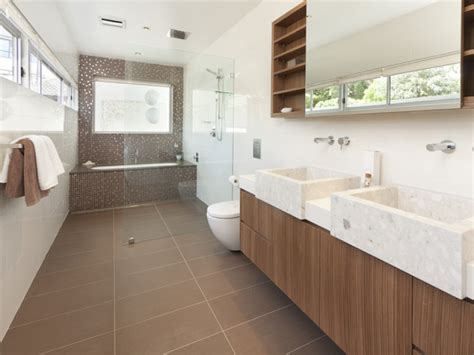 windows in bathrooms ideas modern bathroom design with bi fold windows using ceramic