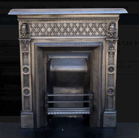 victorian cast iron bedroom fireplace secondhand vintage and reclaimed fireplaces and fire