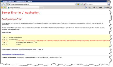 Server Error In Application On Iis 7 Allowdefinition