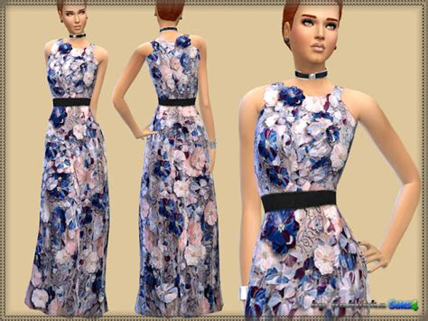 Maxi Liena Violet dress violet at bukovka 187 sims 4 updates