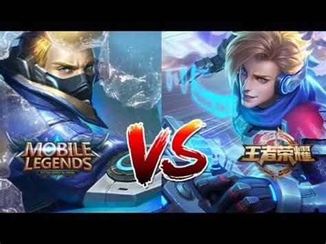 mobile legends  king  glory  side  side