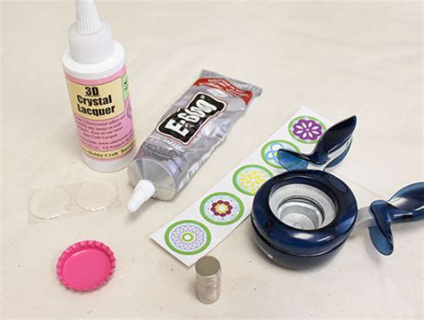 How To Make Bottle Cap Magnets