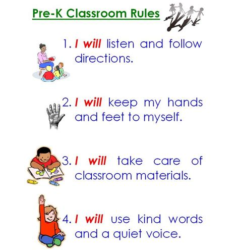 printable toddler classroom rules 4 best images of printable classroom rules chart