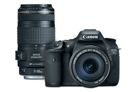 Canon Eos 7d Lensa Kit 18 135mm 18 Mp canon eos 7d ef s 18 135mm is lens kit with ef 70 300mm f 4 5 6 is usm canon store