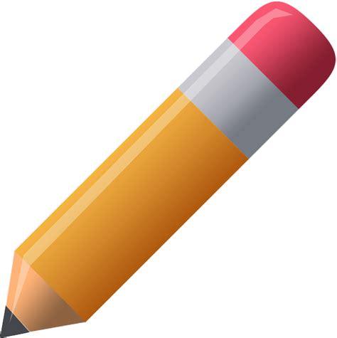 clipart matita pencil pen orange 183 free vector graphic on pixabay