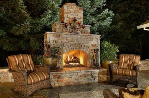outdoor fireplace designs  diy inspirations