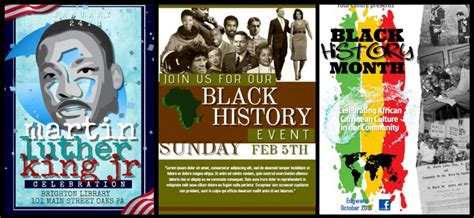 new poster templates for black history month design studio