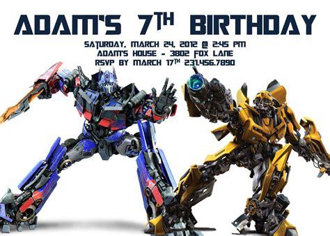 printable invitations transformers transformer birthday invitations bagvania invitations