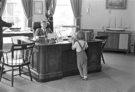Kennedy Oval Office by Kn 21780 President John F Kennedy And Caroline Kennedy