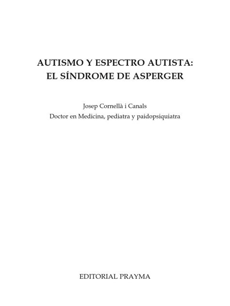 Libro37 - Autismo_sindrome | Síndrome de Asperger | Manual