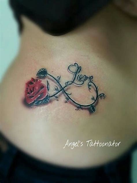 rose infinity tattoo 1000 ideas about infinity tattoos on