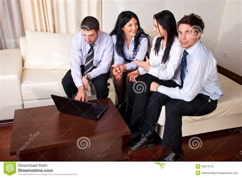 couch people business people sitting on couch royalty free stock image