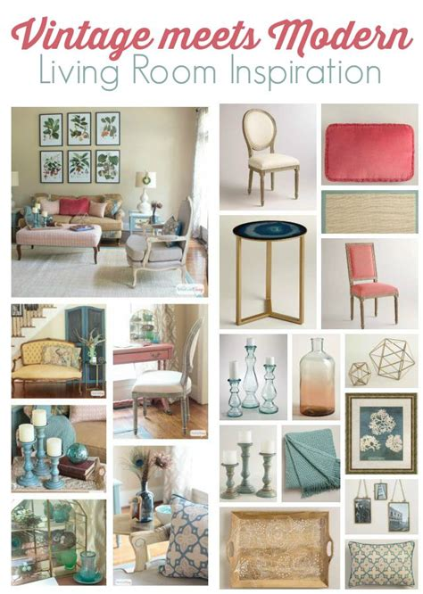Living Room Vintage Decorating Ideas - vintage meets modern living room decorating ideas