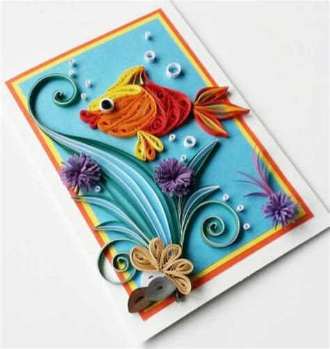 Handmade Greeting Card Designs For Birthday - quilling handmade birthday greeting card designs 2015