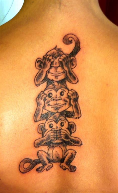 three monkeys tattoo design monkey pics and ideas amazing tattoos