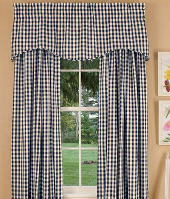 cabin check curtains valances cabin and navy blue on pinterest