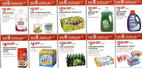 costco printable grocery coupons costco coupon book june 13 july 7 2013 coupons