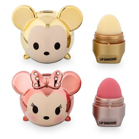 Pineapple Tsum Tsum limited edition gold mickey and gold minnie tsum tsum lip smacker set mickey is