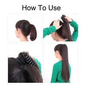 hiw ti wear a pony tail with hair extensions women girls hairpiece long straight curly claw ponytail