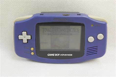 gba console boy advance violet console system agb 001 working