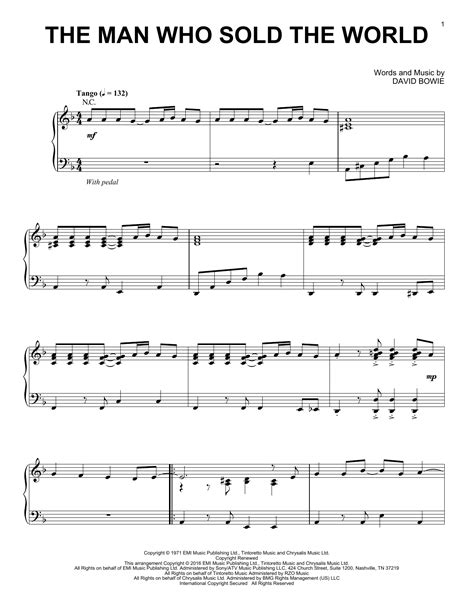tutorial piano nirvana the man who sold the world sheet music by nirvana piano