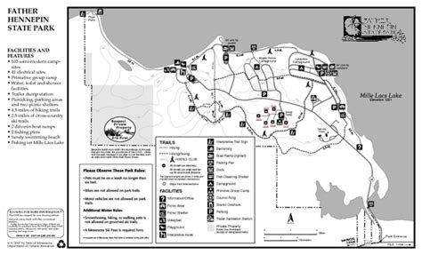 banning state park map minnesota state parks map car interior design