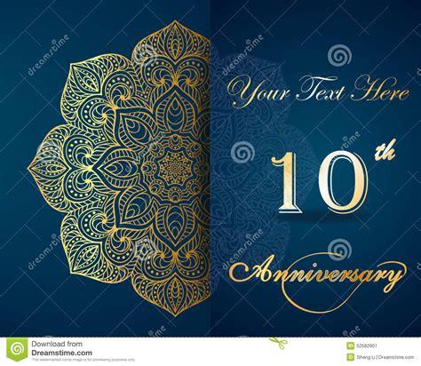 celebrating  years anniversary invitation stock vector