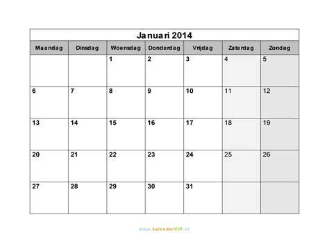 kalender januari  met weeknummers en feestdagen  excel