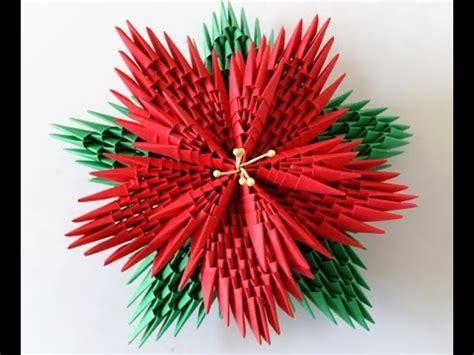 tutorial d oregami christman 3d origami poinsettia