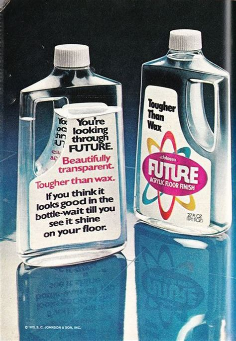 Future Acrylic Floor Finish by Future Floor Wax Childhood 60 S And 70 S