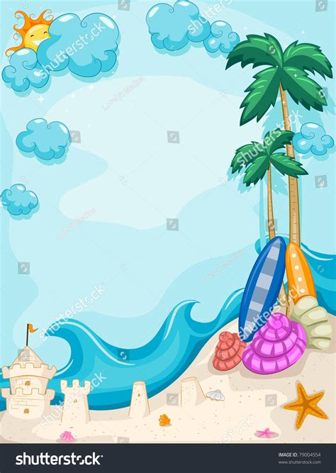 summer themes background illustration summer theme stock vector 79004554