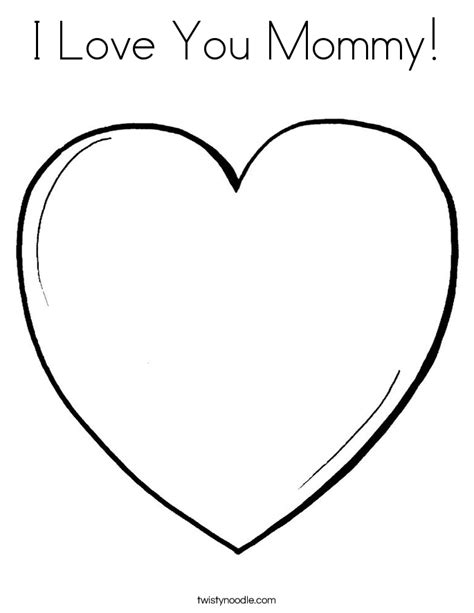 i love you heart coloring page i love you mommy coloring page twisty noodle