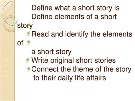 definition theme story elements elements of a short story