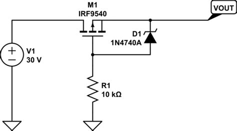 resistor mosfet divider mosfet voltage divider to protect p fet gate on a polarity inversion circuit electrical