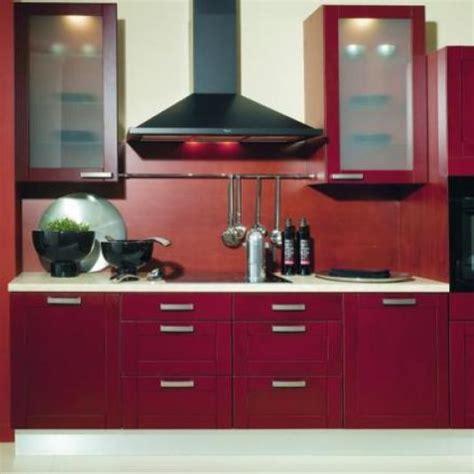 cuisine rouge bois