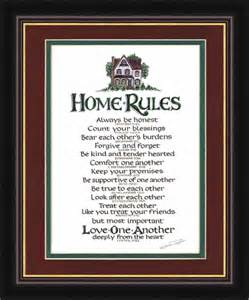 Home Decor Rules Home Rules Christian Wall Decor Lordsart