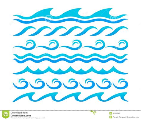 water design elements 25 vector ocean wave pattern black and white