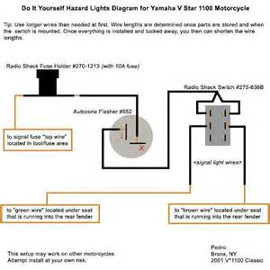 wiring diagram for motorcycle hazard lights wiring