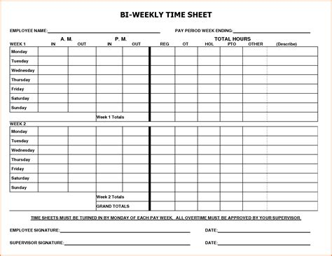 simple weekly timesheet template 8 biweekly payroll timesheet template simple salary slip