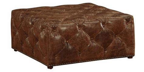 tufted leather storage ottoman large square leather tufted ottoman club furniture