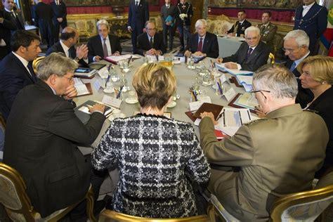 riunione consiglio dei ministri la riunione consiglio supremo di difesa sul libro